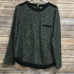 Madewell Sweater with back zip size M